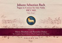 """J. S. Bach Fugue in A minor for Solo Violin BWV 1003 """"Holy Week"""""""
